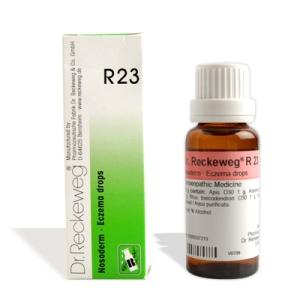 Eczema medicine in Hindi R23 homeopathy drops