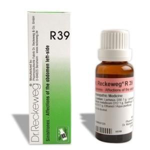Reckeweg R39 homeopathy drops in Hiindi for abdominal ailments drops बायीं ओर के उदर विकारों की औषधि