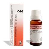 Reckeweg R44 drops in hindi for Disorders of the blood circulation रक्त संचरण के विकार (दुर्बलता) निम्न रक्त चाप