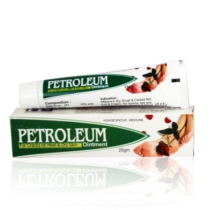 Hahnemann pharma Petroleum for crack skin dry heels in hindi