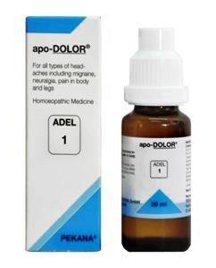 अडेल १ ड्रॉप्स सभी प्रकार के सिरदर्द जैसे - माइग्रेन, स्नायुओं में दर्द, बदन व पाँव में दर्द के लिए