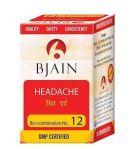 Bjain Biocombination no 12 tablets for headache in hindi