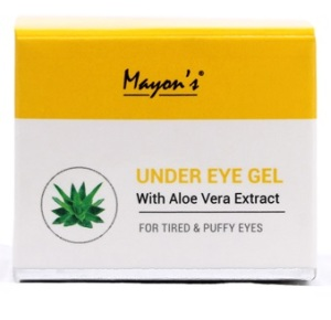 Mayons under eye gel with aloe vera extract for tried and puffy eyes in hindi mai